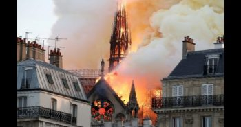 Fire broke out at 850-year-old NotreDame Cathedral