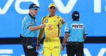 MS Dhoni fined after argument with umpires in Ground