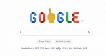 Google changed doodle for Lok Sabha election