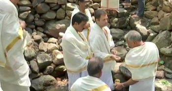 Rahul Gandhi visits Thirunelli Temple in Wayanad