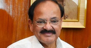 Venkaiah Naidu arrived Andhra pradesh