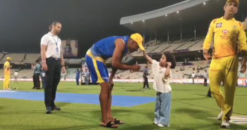 ZivaDhoni teaches Bravo to wear a cap