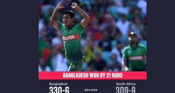 World cup cricket: Bangladesh beat SA by 21 runs