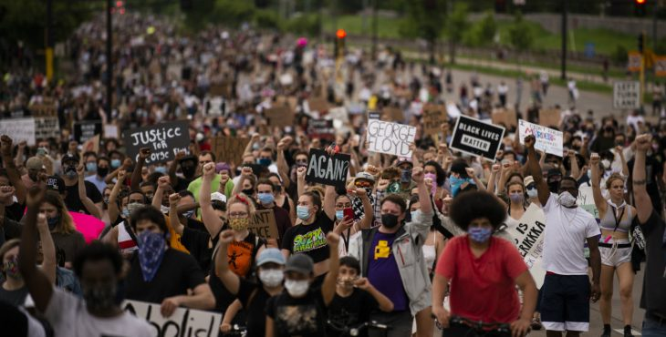 Protesters raged in cities after the death of George Floyd in Minnesota