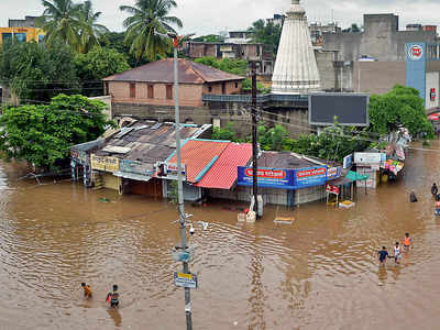 Parts of Maharashtra were flooded with heavy rainfall