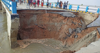 CM Inaugurated Sattarghat bridge collapsed within a month in Bihar