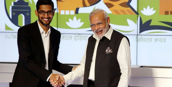 Google for India fund over the meet of Sundar Pichai and PM