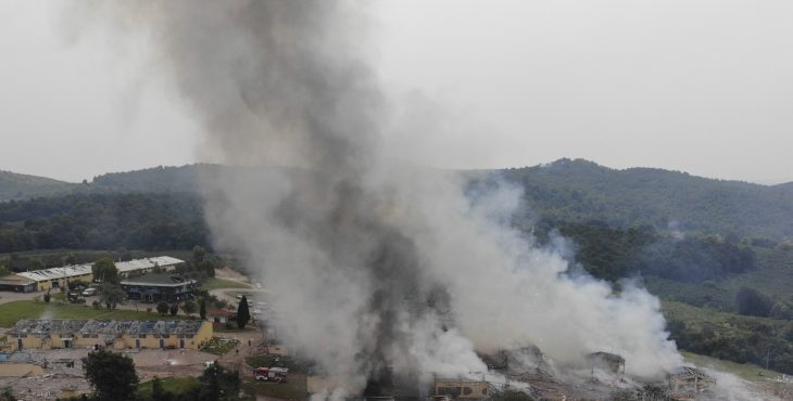 Huge fireworks blast in northern Turkey kills four and 97 were injured