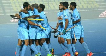 Lucknow: Indian team celebrate after beating England by 5-3 during Jr. World Cup Hockey Tournament at Major Dhyanchand Stadium in Lucknow on Saturday.PTI Photo(PTI12_10_2016_000273A)
