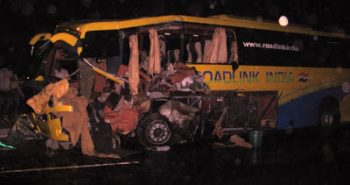 Volvo B7R crash 6